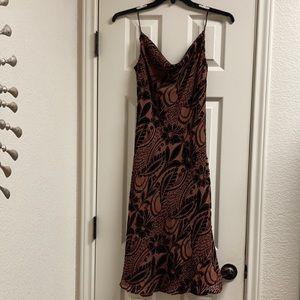 Laundry by shelli segal silk velvet floral dress